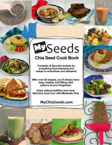 MySeeds Chia Seed Bonus Exclusive Cook Book Cover